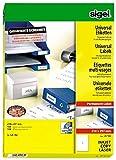 Sigel LA182 Universal-Etiketten weiß, 210 x 297 mm (A4), 100 Etiketten = 100 Blatt