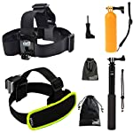 The adjustable head strap is compatible with all sizes GoPro cameras. It allows you to use the Gopro camera on head or helmet to record those before you. Not recommended for high-impact sports. Floating holder is designed to keep your camera with a w...