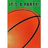 Amscan Basketball Dream Geburtstag Party Einladungen Gefaltet, Papier, 10,2x 12,7cm 8Stück