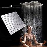 Soffione doccia/Soffione a pioggia moderno doccione inossidabile in acciaio inox,Docce Fisse a Risparmio Quadrato 20 Pollice,50cmx50cm