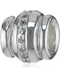 Heartbreaker Unisex-Durchzieher für Lederbänder 925/- Sterling Silber HB EL 03