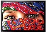 1art1 94654 Frauen - Arabische Augen Fußmatte Türmatte 70 x 50 cm