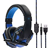 Gaming Headset, Gaming Kopfhörer Surround Stereo Stirnband Kopfhörer 3,5 mm mit Mikrofon Ohne Licht für PS5 / Xbox/One PC/Switch / Laptop/Tablets /Handy