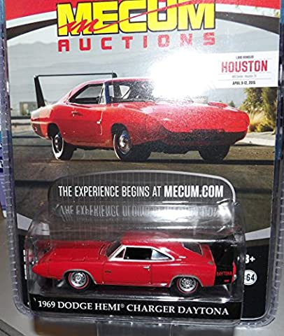 1969 DODGE HEMI CHARGER DAYTONA * Mecum Auctions * 2015 Greenlight Collectibles Limited Edition Hobby Exclusive 1:64 Scale Die-Cast Vehicle