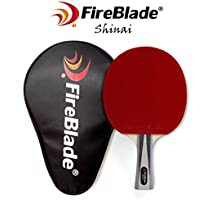FireBlade 'Shinai' - Allwood Table Tennis Bat with Case - 5-ply wood - Ping Pong Racket Paddle - ITTF Rubber- Comfortable Handle - Includes Bat Case