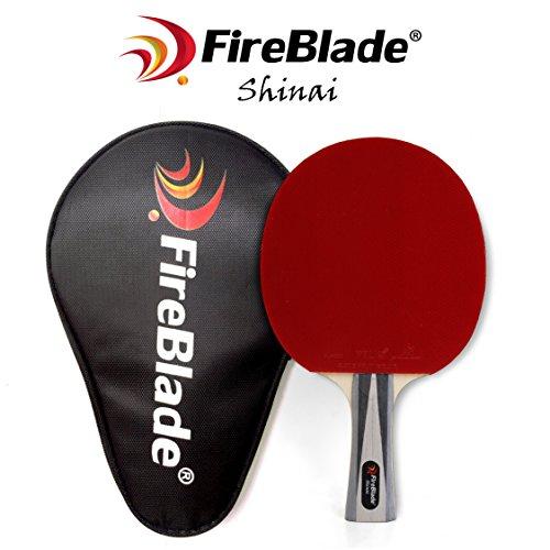 """Fireblade """"Shinai-- ALLWOOD Tischtennisschläger mit Fall - 5-Ply Holz Klinge - Ping Pong Schläger Paddel - ITTF rubber- bequemer Griff - inkl. Frei Fall"""