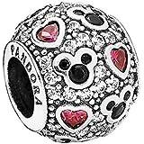 Pandora Silver Bead Sparkling Mickey Hearts Disney Cz Charm 791457cz by Pandora