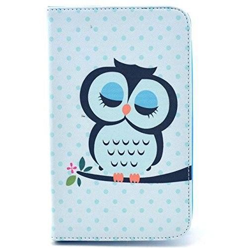 Hot Sell Fashion Samsung Galaxy Tab 4 T230 (7.0 inch) Magnetic Flip PU Leather Case Luxury Sleepy Owl Design with Stand Cover Compatible with Samsung Galaxy Tab 4 T230 (7.0 inch)