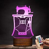 ZCLD Ilusión óptica 3D Máquina de Coser Ligera Diseñada lámpara Sastre Tienda Instrumentos de Costura Lámpara