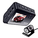 Rrimin 2.0 HD 1080P Dual Lens Car DVR Dash Cam Video Recorder Night