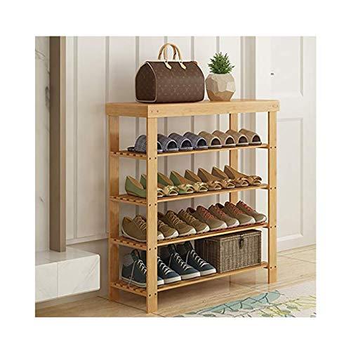 YANFEI Schuhregal Schuhständer Schuhablagen Einen Lagerung Bambus Multifunktion, 4 Etagen, 21 Größen (größe : 100cm Long)