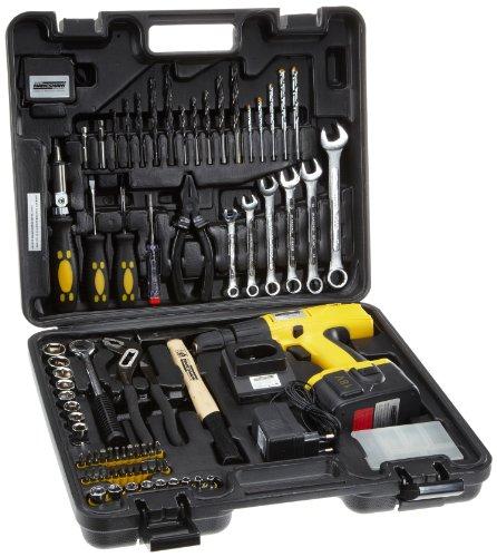 Mannesmann - M17975 - Maletín de herramientas, 75 piezas con destornillador inalámbrico