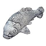 Steinfigur Koi Fisch Steinkoi Deko Garten Tier Tierfigur Gartenfiguren Steinguss