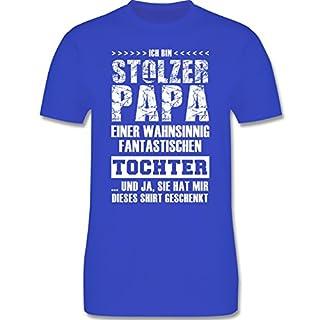 Vatertag - Stolzer Papa Fantastische Tochter - L - Royalblau - L190 - Herren T-Shirt Rundhals