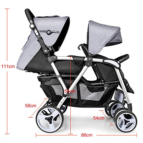 besrey geschwisterwagen doppelkinderwagen zwillingsbuggy sportwagen kinderwagen buggy stroller. Black Bedroom Furniture Sets. Home Design Ideas