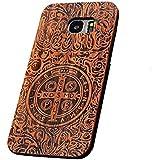 Forepin® Coque Couvert en Bois Luxe Véritable Wood & PC Cadre Housse étui Cover Case Protecteur pour Samsung Galaxy S7 Edge - Constantine