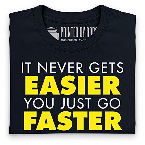 It Never Gets Easier T-Shirt, Herren Schwarz