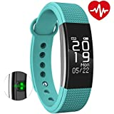 MOVO® All Leading Smartphone Compatible Certified Bluetooth FitnessMust-1 Fitness Band With Heart Rate Sensor Smart Band And Fitness Tracker (SEA Green)