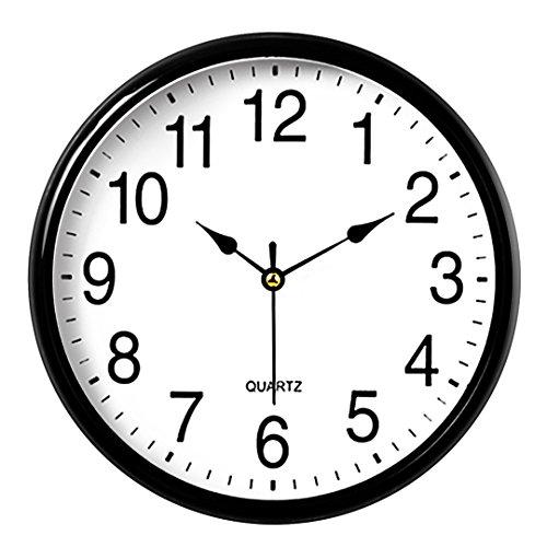 Naughty monkey inc orologio da parete telaio metallico in vetro di quarzo numero orologio al quarzo orologio da parete moderno design decorativo per interni/cucina nero
