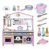 WDXIN Puppenhaus Puzzle Spielzeug Küche Herd Hölzernes Puppenspiel des Mädchenkindes Spielzeug-Set Kochen Weisheit entwickeln.