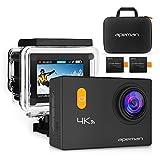 APEMAN Action Kamera WIFI sports cam 4K camera 20MP Ultra Full HD Helmkamera wasserdicht mit 2 verbesserten Batterien Transporttasche und kostenlose Accessoires
