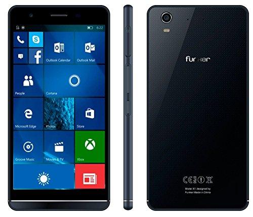 Funker W5.5 NOTE PRO - Smartphone libre 4G, 16GB, 2GB RAM, QuadCore, Windows 10 Mobile, Black & Blue
