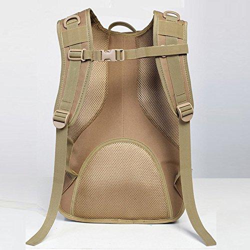 Outdoor schulter Rucksack camouflage Taschen für Männer und Frauen Freizeit Bergsteigen Taschen 28 * 41 * 17 cm, Dschungel Anzahl Jungle Camouflage
