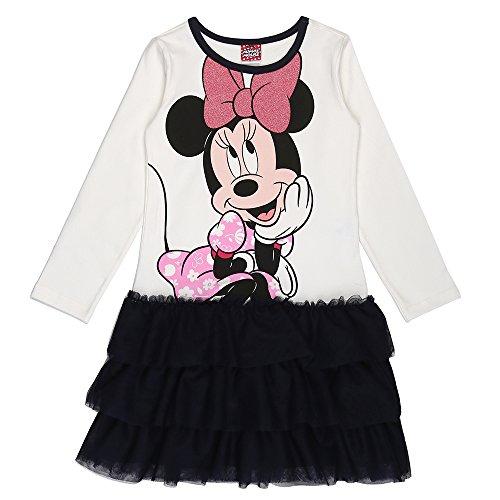 (Disney Mädchen Minnie Mouse Kleid, Dunkelblau, Größe 104, 4 Jahre)