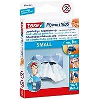 tesa Powerstrips Strips SMALL für max. 1kg, Packung mit 14 Strips