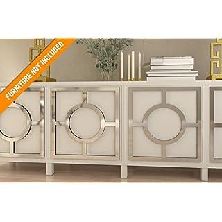HomeArtDecor, Porto Fretwork Overlay, passend für IKEA Besta, hochwertige Overlay, Möbel Overlays, gespiegelte Möbel, Möbel Applikationen, Möbel Dekoration, Refurbished, Dekor