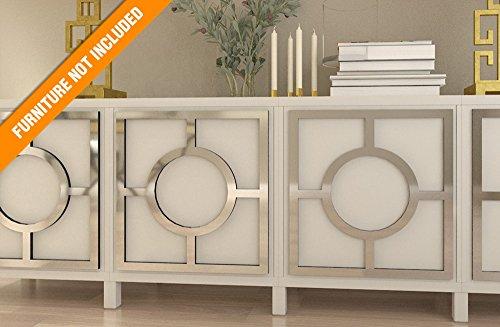 HomeArtDecor, Porto Fretwork Overlay, passend für IKEA Besta, hochwertige Overlay, Möbel Overlays, gespiegelte Möbel, Möbel Applikationen, Möbel Dekoration, Refurbished, Dekor -
