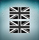 2x Flagge Sticker Selbstklebend UK Englisch schwarz camo Softair Biker Tuning JDM