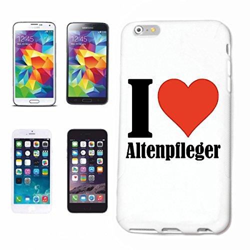 """Handyhülle iPhone 7S """"I Love Altenpfleger"""" Hardcase Schutzhülle Handycover Smart Cover für Apple iPhone … in Weiß … Schlank und schön, das ist unser HardCase. Das Case wird mit einem Klick auf deinem Smartphone befestigt"""