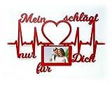 Herz Geschenke für Männer Frauen Freundin Freund zum Valentinstag Jahrestag Liebesbeweis Foto Holz Bilderrahmen 10x15 cm