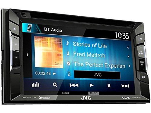 JVC Radio KWV240BT Auto 2DIN Bluetooth mit Einbauset für Kia Rio (UB) 2011-2015 schwarz