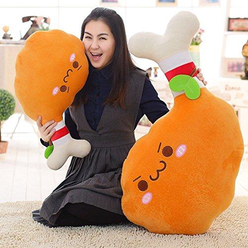 MRY/ Pollo coscia cuscino. peluche giocattoli. pollo re bambole. pollo creativo cuscino. regali per i bambini , 80 cm