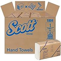 Scott Essential Toallas de papel multipliegue (01804) con bolsillos de absorción de secado rápido, blanco, 16 paquetes/funda