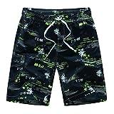 Modaworld Herren Freizeit Shorts Casual Mode Urlaub Strand Shorts Sommer Kokosnuss Palmen mit Innenslip