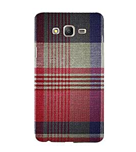 Red Checks Pattern 3D Hard Polycarbonate Designer Back Case Cover for Samsung Galaxy On7 Pro :: Samsung Galaxy ON 7 Pro