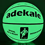 Night Light Up Basketball, Basket-Ball sans Pile, PU Brillent dans Le Noir, Fluorescent Bright After Sun Shine, Taille Officielle Basketball Toy Taille 7 (29.5 in)