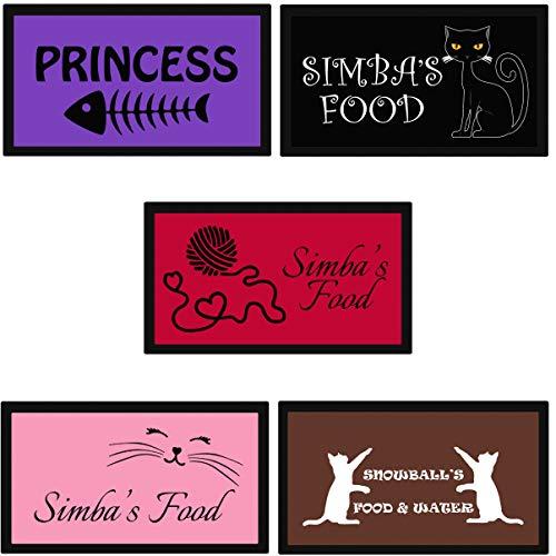Personalisierter Katzennapf - gestalten Sie Ihre eigene Keramikschale, in jeder Farbe, mit eigenem Namen Ihres Tieres. Personalisierte Katzennäpfe für Futter oder Wasser in langlebiger Qualität.
