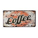 Kc-1981 K&C Bester Kaffee in der Stadt Dekorative Zeichen Blech Metall Eisen Zeichen Malerei Für Wand Home Office Bar Coffee Shop