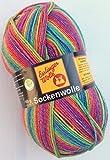 Esslinger Wolle - Sockenwolle - Farbe 08 - regenbogen-bunt