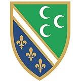 Aufkleber Feuchtwangen Flagge Fahne 12 x 8 cm Autoaufkleber Sticker