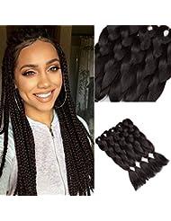 Golden Rule kanekalon tresser cheveux 61 cm 5pièce 100 g synthétiques jumbo tresse extension de cheveux(noir naturel)