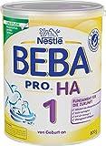 Nestlé BEBA PRO HA 1 Anfangsnahrung, hypoallergene Säuglings-Nahrung, von Geburt an, sättigend, 1 x 800g Dose