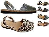 Auténticas avarcas menorquínas, varios colores, abarcas, albarcas, sandalias (38, Cebra)