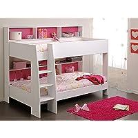 Etagenbett Tamina 1 weiß 209x165x132cm pink blau Bett Hochbett Stockbett Bett für Mädchen und Jungen preisvergleich bei kinderzimmerdekopreise.eu