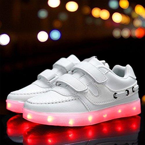 High erwa 7 Schuhe present Unisex C9 Sportschuhe kleines Aufladen Leuchtend Für Turnschuhe Sneaker Usb Top Handtuch junglest® Farbe Led Sport ttFU7