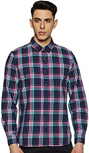 United Colors of Benetton Men's Checkered Slim fit Casual S